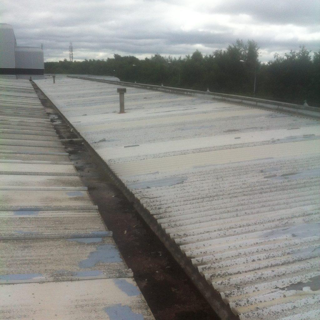 roof 10/10b valley gutter